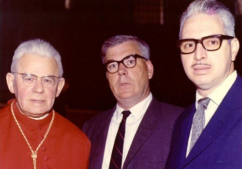 Cardijn with lay auditors, Patrick Keegan and