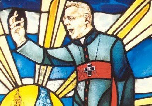 Cardijn stained glass window